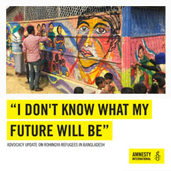 Amnesty International 'I don't know what my future will be'
